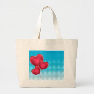 Heart Shaped Balloons 2 Large Tote Bag