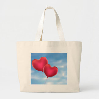 Heart Shaped Balloons 3 Large Tote Bag