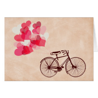 Heart-Shaped Balloons and Bicycle Cards