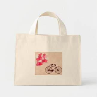 Heart-Shaped Balloons and Bicycle Mini Tote Bag