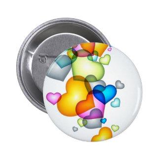 Heart Shaped Balloons Button