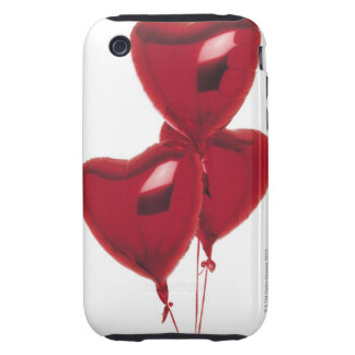 Heart-shaped balloons iPhone 3 tough case