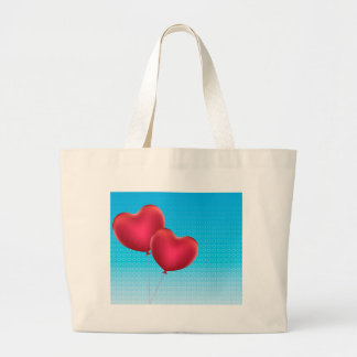 Heart Shaped Balloons Large Tote Bag