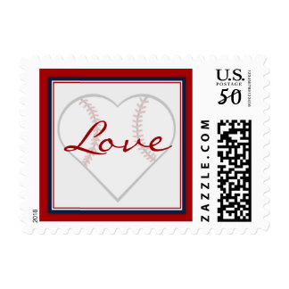 Heart Shaped Baseball Love Stamps