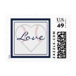 Heart Shaped Baseball Love Stamps