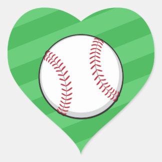 Heart shaped baseball love stickers