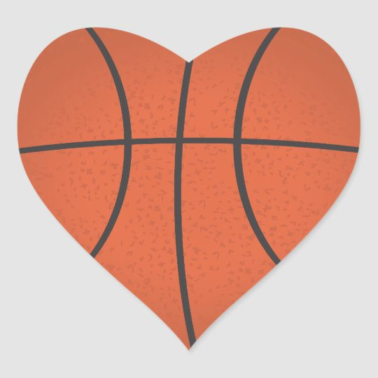 heart shaped basketball sticker zazzle com rh zazzle com heart shaped basketball pictures heart shaped basketball pictures
