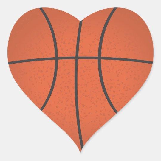 heart shaped basketball sticker zazzle com rh zazzle com Basketball Heart Designs basketball heart clipart black and white