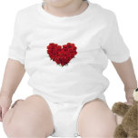 Heart shaped Bouquet of Roses Baby Bodysuit
