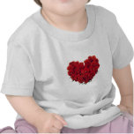 Heart shaped Bouquet of Roses T Shirt