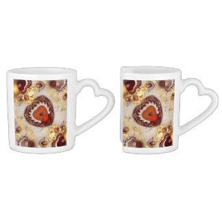 Heart Shaped Box Fractal Art Coffee Mugs
