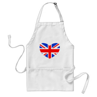 Heart Shaped British Flag Aprons