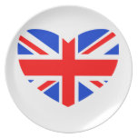 Heart Shaped British Flag Plate