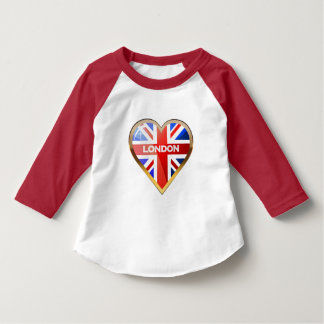 Heart-Shaped British Flag T-Shirt