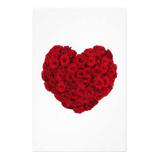 Heart shaped bunch customized stationery