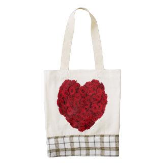 Heart shaped bunch zazzle HEART tote bag