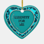Heart Shaped Ceramic Ornament_SerenityForMe Christmas Tree Ornaments