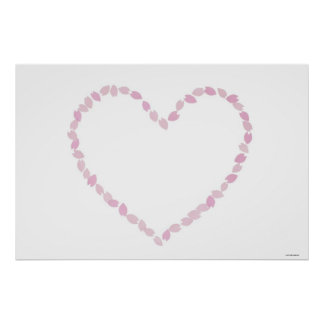 Heart Shaped Cherry Blossom Poster