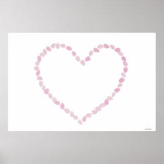 Heart Shaped Cherry Blossom Poster