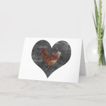 Heart Shaped Chicken Card