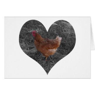 Heart Shaped Chicken Card