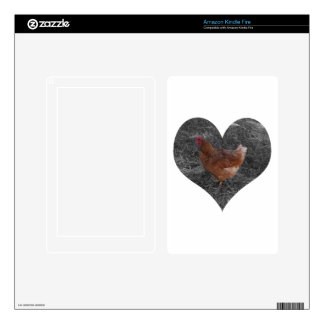 Heart Shaped Chicken Decal For Kindle Fire