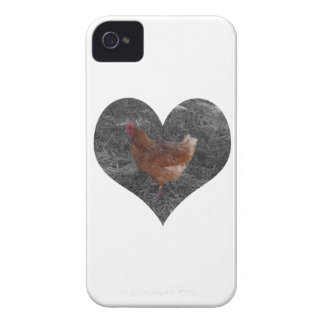 Heart Shaped Chicken iPhone 4 Case