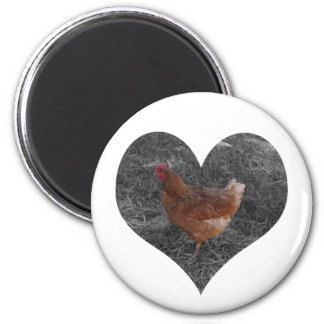 Heart Shaped Chicken Magnet