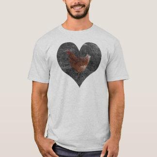 Heart Shaped Chicken Men's White Shirt