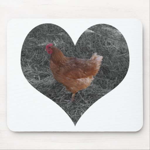 Heart Shaped Chicken Mousepad