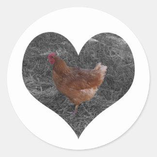 Heart Shaped Chicken Stickers