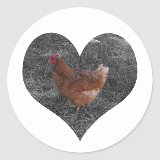 Heart Shaped Chicken Stickers