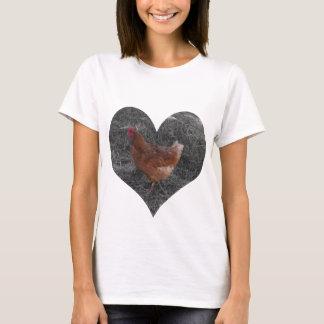 Heart Shaped Chicken White T-Shirt