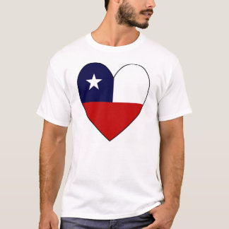 Heart-shaped Chile Flag T-Shirt
