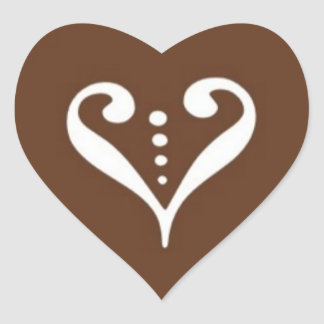 Heart-Shaped Chocolate Stickers © 2011 M. Martz