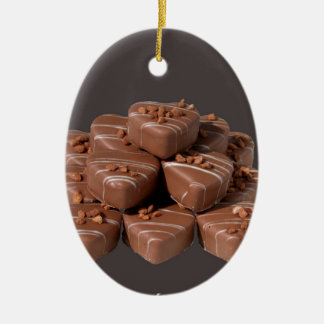 Heart Shaped Chocolates Ceramic Ornament