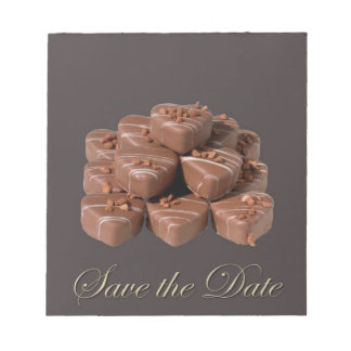 Heart Shaped Chocolates Note Pads