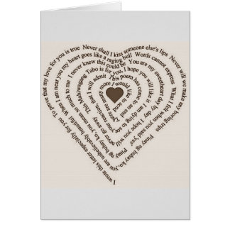 HEART SHAPED CHRISTMAS LOVE POEM-MISSING YOU CARD