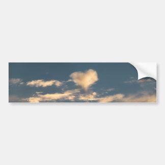 Heart shaped cloud bumper stickers