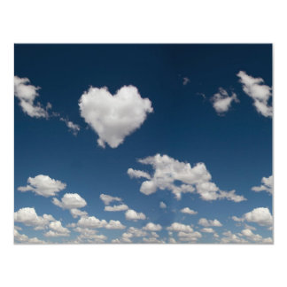 Heart shaped cloud card