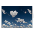 Heart shaped cloud card