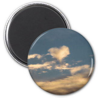 Heart shaped cloud fridge magnets