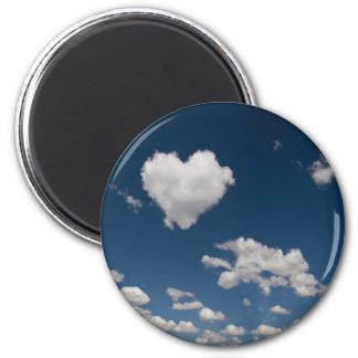 Heart shaped cloud refrigerator magnets