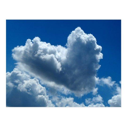 Heart-Shaped Cloud Postcard