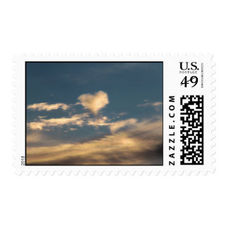 Heart shaped cloud stamps