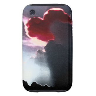 Heart-Shaped Cloudburst RED iPhone 3G/3GS C-M Case
