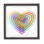 Heart shaped colorful pattern gift box