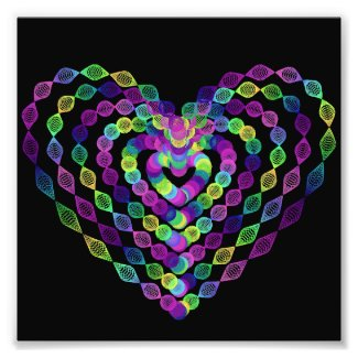 Heart shaped colorful pattern. photo print