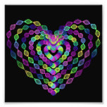 Heart shaped colorful pattern photo print