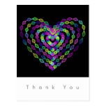 Heart shaped colorful pattern. postcard